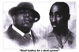 Wholesale Dead Leaders Tupac Classical Custom Fashion Movie Comic Poster Printed Size x75 cm Wall Sticker