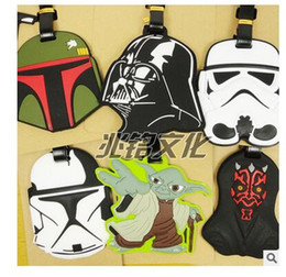 Wholesale 14 Styles Cartoon Luggage Tags Star Wars Checked Travel Silicone Yoda Luggage Tags Suitcase Checked Box Tag Dhgate R1629