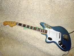 Left Handed Blue 6 Strings Jaguar Electric Guitar Wholesale Guitars Top Musical instruments