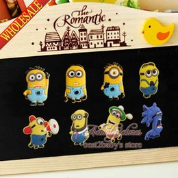 Wholesale 4PCS SET Minions Despicable Me Fridge Magnets PVC Magnetic Sticker Blackboard Magnets Refrigerator Magnets Office School Supplies Kids Toys