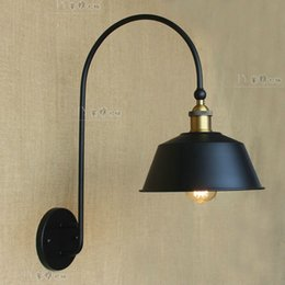 Wholesale Newest American classical cozy atmosphere Iron wall lamp wall sconce lamp door long French antique wrought iron lamps Edison Lig