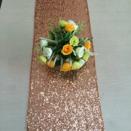 Wholesale Rose Gold Sequin Table Runner quot x quot Sequin TableCloth Sequin Table Cloths Sequin Linens Gold Sequin Silver Sequin