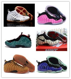 Wholesale NIKE AIR FOAMPOSITE ONE PRM WHEAT Basketball Shoes penny hardaway galaxy Athletic Shoes yeezy top quality foamposites GONE FISHING sneakers