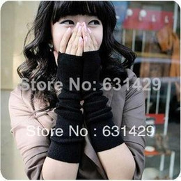 Long half gloves arm cuffs general gloves fingerless gloves for men and women free shipping