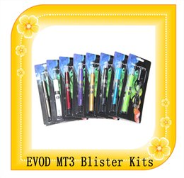 Wholesale EVOD MT3 Kit Blister Packing electronic cigarettes mah mah mah EVOD Battery MT3 BBC Atomizer MT3 EVOD Kit e Cigarette