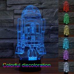 Wholesale New Star Wars Led Lights Cubes Christmas Lights D Battleship Modern Lighting Night Lights LED Led Colorful Changing Light Night Light