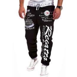 Wholesale-New Mens Joggers Outdoor Sports Pants Sweatpants Fashion Letter Print Harem Pants Sweat Pants Men Trousers Sports wear