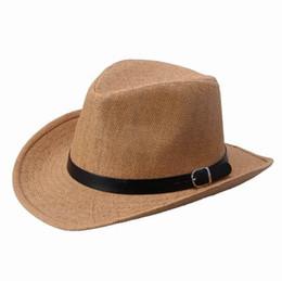 Wholesale-2015 new summer hat bucket hats for men women handmade straw linen sun beach hats cap men headgear FREE SHIPPING