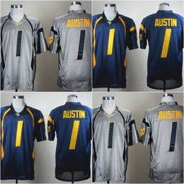 Factory Outlet- #1 Tavon Austin,West Virginia Mountaineers WVU NCAA College Football Jerseys,2015 New Cheap Stitched Jersey,Embroidery logos