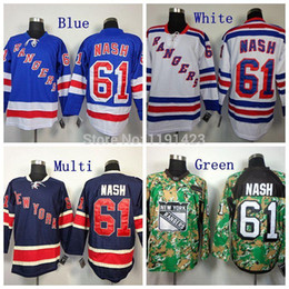 CheapMen's New York Rangers Hockey Jerseys #61 Rick Nash Jersey Home Blue Road White Alternate Navy Blue 85th Stitched Jerseys