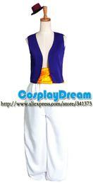 Wholesale Hot Sale Aladdin Lamp prince Costume cosplay Custom made Halloween carnival Aladdin Prince cosplay costume