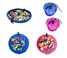 Stockage pour les jouets en Ligne-Portable Enfants Enfants Infant tapis de jeu pour 150cm de grands sacs de stockage Jouets Organisateur Blanket Boîtes Tapis Facile