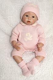 """55cm 22""""Acrylic&Silicone Simulation cloth body Reborn Baby Doll Girl BB007G"""