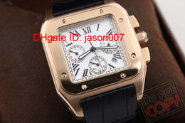 Wholesale New style men Golden case LX Luxury watch caliber automatic movement mechanical white dial black leather hands wristwatch