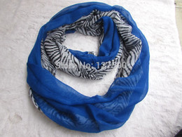 2015 New Fashion Zebra Print Women Infinity Scarf 6 Color Round Circle Scarves Solid Scarf 10PCS lot Wholesale Free Shipping