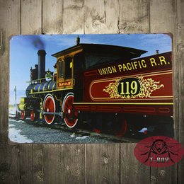 Wholesale UNION PACIFIC metal Sign with vintage image of a Train Engine Made in the USA