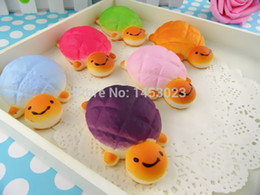 Wholesale-wholesale rare tortoise squishy 2015 new rare tortoise cell phone charm Squishys toys rare squishies cute free shipping 5pcs lot