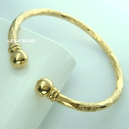 18k gold GF filagree greek key ladies women solid design bangle bracelet G111