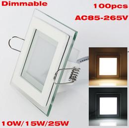 Descuento plexiglás iluminadas NUEVO Plexiglás 10W / 15W / 25W llevó el techo cuadrado empotrado techo Downlight AC85-265V Dimmable 110V 220V blanco / blanco cálido Iluminación interior
