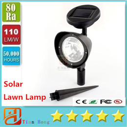 Wholesale 2016 New LED W Solar Powered Spotlight Outdoor Garden Landscape Lawn Yard Path Spot decor Light Lamp Auto On