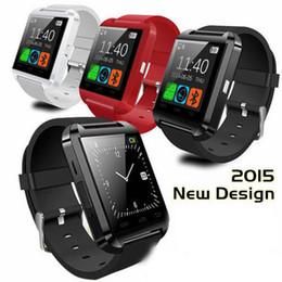 Nouvelle u8 bluetooth montre-bracelet à puce en Ligne-HOT 3 couleurs Nouveau Sport U8 U80 Bluetooth Smart Wrist Watch Phone Mate pour Android IOS Iphone Samsung LG