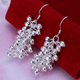 Fashion Women Earring Jewelry Silver Earrings Grape Beads Style Dangle Earring Sterling Silver Drop Earring For Women