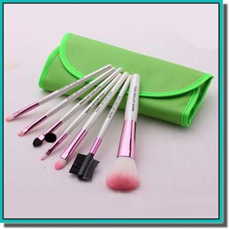 Wholesale brand new makeup brushes set make up storage bage with brushes for Facial beauty with colors for choose