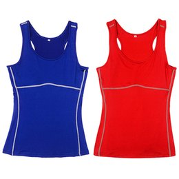 Wholesale-Women Gym Sports Vest Running Top Girl Stretch Sleeveless Tee Shirt New HOT Selling