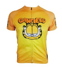 Wholesale-cycling jersey 2015 !! Garfield cycling jersey road bike cycle bicycle jersey men cycling clothing yellow