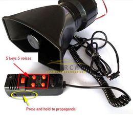 Wholesale 12V SOUNDS CAR WARNING ALARM SIREN HORN PA SPEAKER SYSTEM AMPLIFIER MIC
