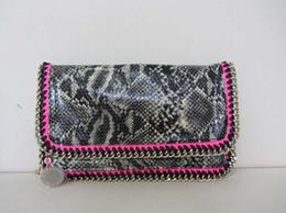 Promotion chain bag women s handbag Qualité de la mode Stella MC Falabella Serpentine Pattern Chains Bag Sac à main en épaule à une épaule