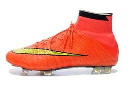 Wholesale Nike Men s Mercurial SuperFly IV FG Soccer Cleats Orange Yellow