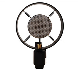 Free shipping sliver retro vintage hight class karaoke computer photograph movie Props recording condenser Microphone