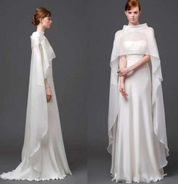 Wholesale Short Bridal Cape - Cheap Chiffon Bridal Cape Half Sleeve Bridal Prom Party Jacket Bridal Wrap Wedding Events Bridal Accessory