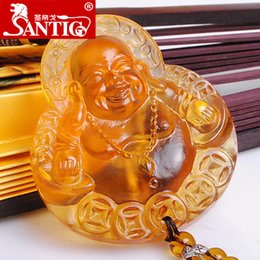 Wholesale Ge sided automotive supplies sage Maitreya car ornaments automotive glass ornaments ancient glass technology