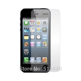 Wholesale-10Pcs lot Clear LCD Screen Guard Protector Film for Apple iPhone 5 5S 5C NO Package