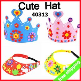 Wholesale Deal Sets Handmade DIY EVA Hat Crown Sticker Production Art Craft Tool Children Kids Birthday Gift Activity items