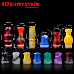 Wholesale Cheap E Cigarette Drip Tip with EGO Mouthpiece Colorful Acrylic Material fit DCT Vivi Nova Tank Flower Vase Shape Electronic Cigars