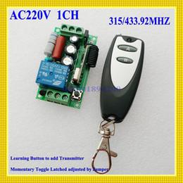 Control remoto 315 en Línea-AC 220V Interruptor alejado Luz de la lámpara Bombilla LED Relé inalámbrico Interruptor de control remoto Pequeño transmisor 315/433 Aprendizaje Código ASK Power RemoteONOFF
