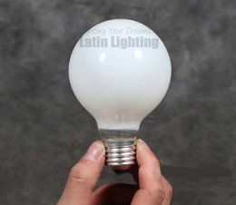 Wholesale E27 Edison Vintage Chandelier Creative Bar Light Bulb W V Screw Base Milky White Edison Antique Lights Bulbs Art Lamp