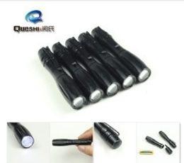 Wholesale-Black Mini  XML Cree T6 Aluminium Alloy  Torch Camping Hunting Portable Led Mini  Free Shipping