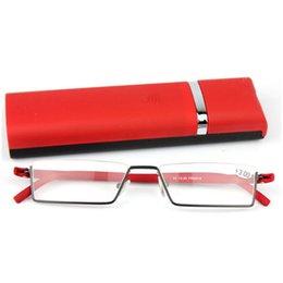 Wholesale New German High quality TR90 Frame Reading Glasses Black Red Color Half Frame Reader Eyeglasses