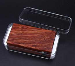 Wholesale 2015 Original APC wood box mod APC box mod vs ABS box mod Tesla W Wood Box Mod SMY Fungfu Mod E cigarette istick Mods