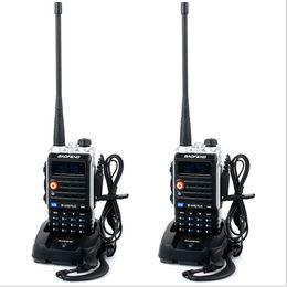2017 deux radios bidirectionnelles vente Gros-2 Pcs 2015 VENTE CHAUDE récente version 8W 4800mAh Baofeng BF-UVB2 plus Talkie Walkie Dual Band Portable Two-Way Radio UVB2 plus deux radios bidirectionnelles vente à vendre
