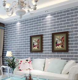 Wholesale Chinese green red white brick three dimensional vintage living room bedroom restaurant decoration wallpaper papel de parede