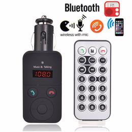 Wholesale Wireless Bluetooth Car Kit FM Transmitter MP3 Player LCD Display Support SD USB Remote Control CAU_303