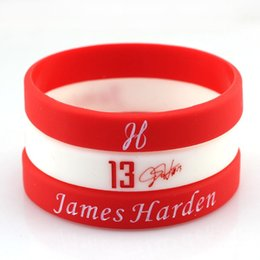 Wholesale Glow in the dark Silicone Bands Rubber Bracelets Basketball Player James Harden Signed Personalized Silicone Bracelets