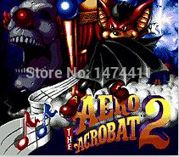 Wholesale Brand New Bit Game Cartridge Classic Game Card for Sega Mega Drive Genesis Aero Acrobat
