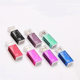 2017 adaptateurs memory stick All in 1 USB 2.0 Lecteur de carte mémoire multi-connecteur pour Micro SD-MMC-SDHC-TF-M2 adaptateurs memory stick promotion