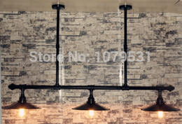 Lustre Vintage Chandelier 3 Light Loft Industrial Water Pipe Tube Edison Bulbs Pendant Lamp For Dining,Bar Free Shipping